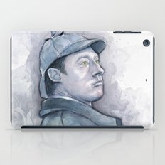 Data as Sherlock Holmes Watercolor iPad Case
