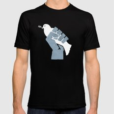 Obtain Peace Revolution Black SMALL Mens Fitted Tee