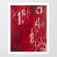 Numeric Values: Sl-a-sh … Art Print