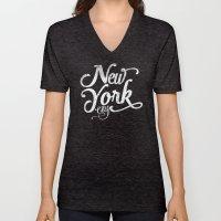 New York City vintage typography Unisex V-Neck
