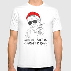 The Life Aquatic - Klaus SMALL White Mens Fitted Tee