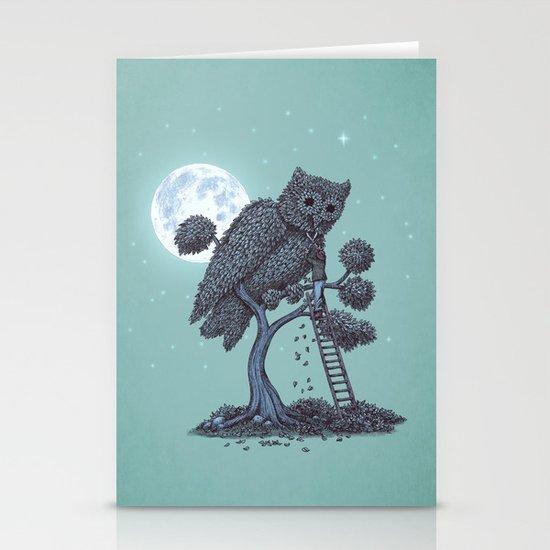 The Night Gardener  Stationery Card