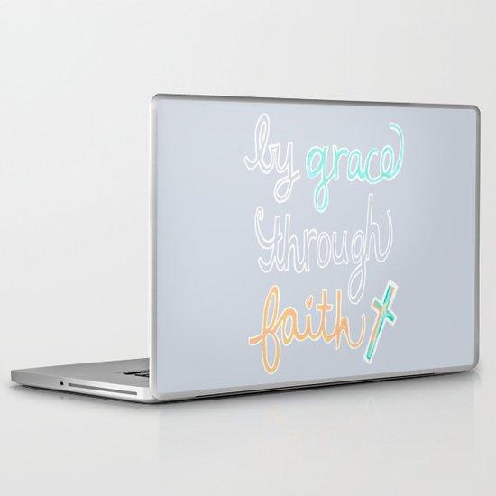 By Grace Through Faith Laptop & iPad Skin
