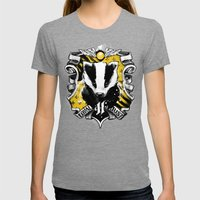 Hufflepuff Daddy Womens Fitted Tee Tri-Grey SMALL