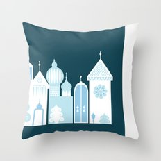 The Ice Castle Throw Pillow