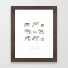 Elephants of the United States Framed Art Print