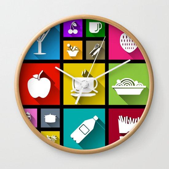 Kitchen Window Uptown Coffee Festival 2016: Gastro Windows 8.1 Wall Clock By DipWeb