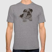A Bulldog Puppy :: Brindle  Mens Fitted Tee Athletic Grey SMALL