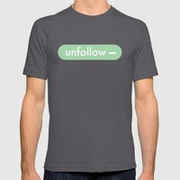 unfollow- Mens Fitted Tee Asphalt SMALL
