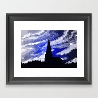Ancient Land And The Sky… Framed Art Print