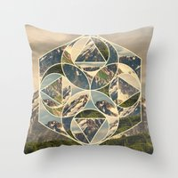 Geometric mountains 1 Throw Pillow