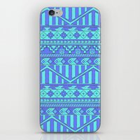 Aztec duo color blue pattern iPhone & iPod Skin