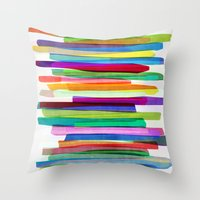 Colorful Stripes 1 Throw Pillow