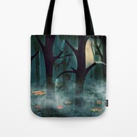 The Woods at Night Tote Bag