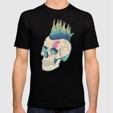 Skull Punk Black Mens Fitted Tee SMALL