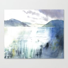 Watercolor Scotland Loch Canvas Print