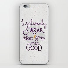 I Am Up To No Good iPhone & iPod Skin
