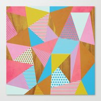 Wooden Colorful Canvas Print