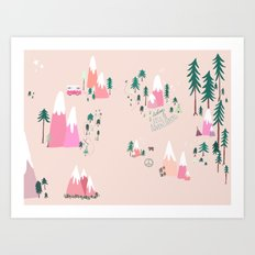 Let's Be Adventurers Art Print