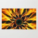 Flaming Love Flower Rug