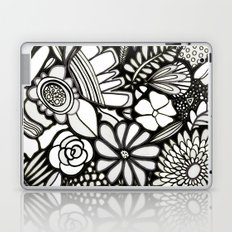 Flowers On The Wall Black & White Edition Laptop & iPad Skin
