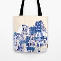 Blue Buildings Tote Bag