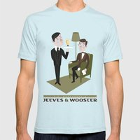 Jeeves & Wooster Mens Fitted Tee Light Blue SMALL