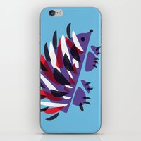 Colorful Abstract Hedgehog iPhone & iPod Skin
