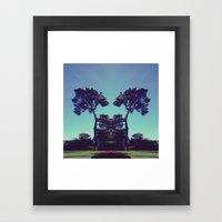 ink blot tree  Framed Art Print