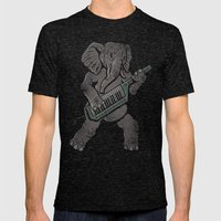 Trunk Rock Mens Fitted Tee Tri-Black SMALL
