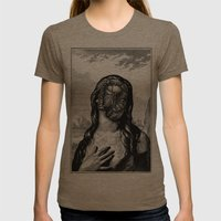 DIANA Womens Fitted Tee Tri-Coffee SMALL