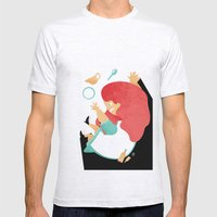 ALICE IN WONDERLAND Mens Fitted Tee Ash Grey SMALL