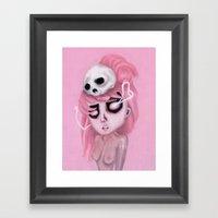 Bubblegum Pink Framed Art Print