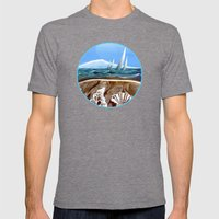 The Geology of Boating Mens Fitted Tee Tri-Grey SMALL