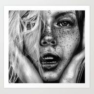 Art Print featuring + FRECKLES + by Sandra Jawad