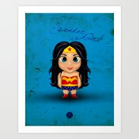 Comic Kids, Series 1 - Wonder Girl Art Print