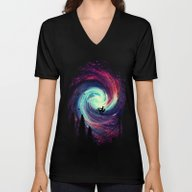 Unisex V-Neck featuring Adventure Awaits by Nicebleed