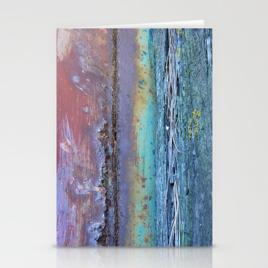 Rust And Rotten ....Abstract Found Art Stationery Card