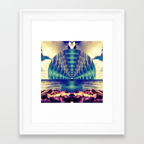 Door in the sea Framed Art Print