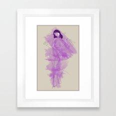 Psylocke Framed Art Print
