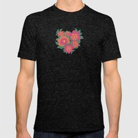Rosa Mens Fitted Tee Tri-Black SMALL