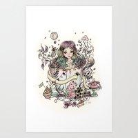 Azama Art Print