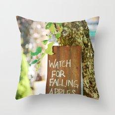Falling Apples Throw Pillow