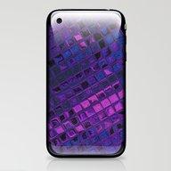 Blue Lilac Decorative Sq… iPhone & iPod Skin
