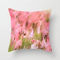 Flowers Field Throw Pillow