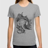 Inking Elephant Womens Fitted Tee Athletic Grey SMALL