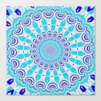 mandala blue Canvas Print