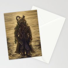 The Octopus Man Rises Stationery Cards