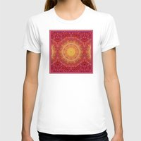 Love Will Find A Way -- Kaleidescope Mandala in the colors of Love Womens Fitted Tee White SMALL