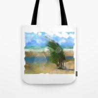 Windy Day/ Lake Huron Tote Bag